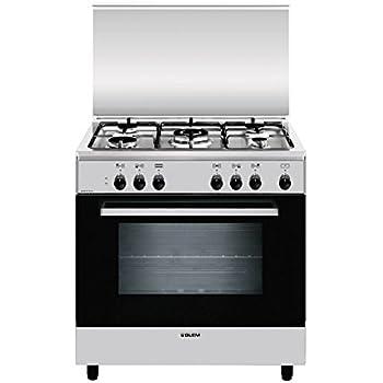 Glem A855EI cucina Piano cottura Nero, Acciaio inossidabile Gas A ...