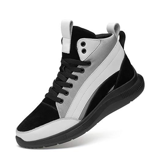 ailishabroy Männer Höhe Zunehmende Casual Hohe Tot Schuhe 2.4 Zoll Leichte Lace Up Sport Schuhe für Herren