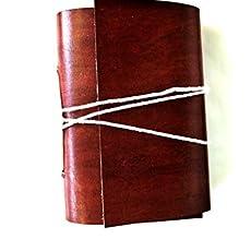 UrbanCollections 7 pulgadas Vintage Leatherr Notebook en cuero blanco diario.