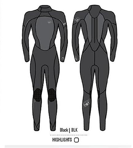 Body Glove Damen Fusion 4/3mm Back Zip Full Body Neoprenanzug, 11/12