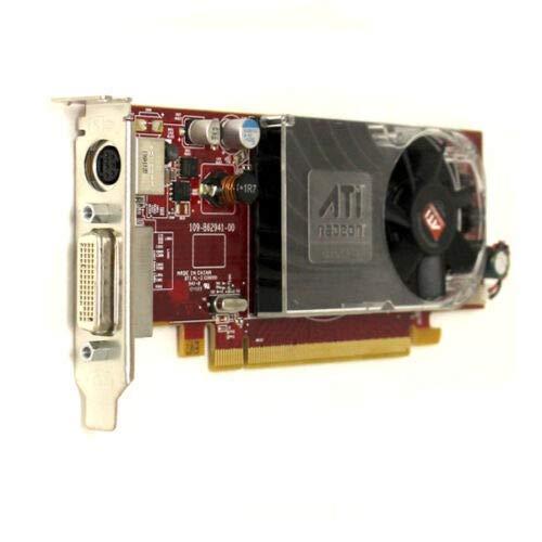 Dell Ati Radeon HD X2400 XT pro 256MB PCI Express Doppelter Bildschirm Tv-Ausgang Video Karte - DMS-59 Verbindung (Runderneuert)
