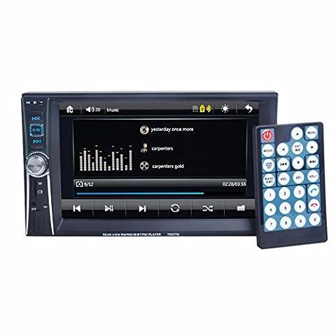 Auto Stereo Radio - Kingwo Mp3 Player 7 Double 2 Din Touchscreen Im Bindestrich Auto Stereo Radio Mp3 Player FM Aux + Kamera mit 1 * Multimedia Player Host, 1 * Rückfahrkamera mit Kabel, 1 * Netzkabel, 1 * Englisch (Din-radio-install Kit)