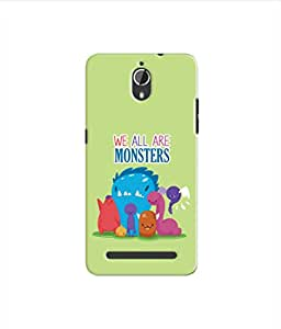 Kaira High Quality Printed Designer Soft Silicon Back Case Cover For Panasonic P77(Monsters)