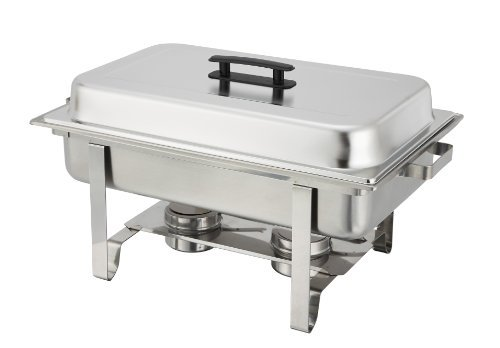 Winware 8 Qt Stainless Steel Chafer, Full Size Chafer by Winware (Steel Chafer)