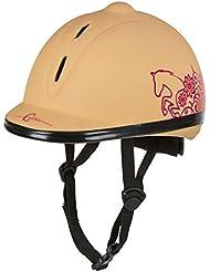 Covalliero Beauty VG1 Casco de equitación para niños, infantil, Helm Reithelm Beauty VG1, marrón claro