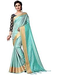 0234677d5c1e1a AnK Women s New Paper Silk Tassles Saree With Jacquard Blouse Piece