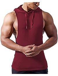 EUFANCE Hombres Culturismo Músculo Corte de Entrenamiento sin Mangas Gimnasio Sudaderas Camisetas Camisetas sin Mangas del Chaleco