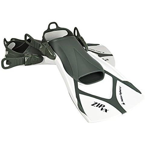 Aqua Sphere Zip VX - Aletas de entrenamiento para natación, color negro, talla Large/Size 10 - 13