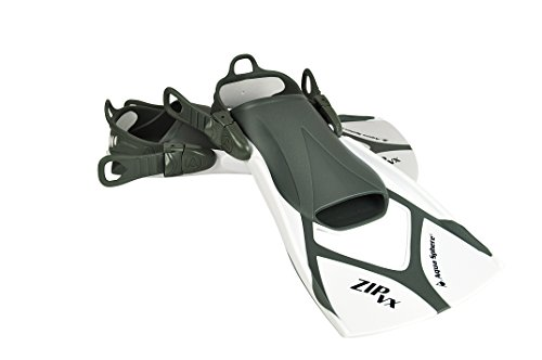 Aqua Sphere  Trainingsflossen Zip VX Schwimmen Training Fin, weiß/grau, M, 23858W