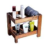 Organizzatore di trucco Organizzatore di cosmetici in legno su 2 livelli e ripiano portaoggetti, porta-asciugamani per bagno Compongono organizer, portaspezie per cucina, per comò, camera da letto, Ba