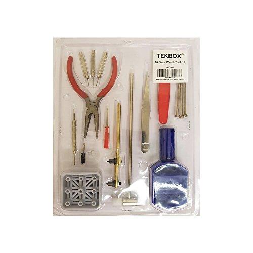 TekBox-16-Piece-Watch-Repair-Tool-Kit-Set-Pin-and-Back-Remover-Wrist-Strap-Adjust