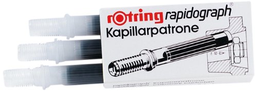 Rotring Capillary cartridges for Rapidograph - Recambio de bolígrafo (Azul, Rotring Rapidograph)