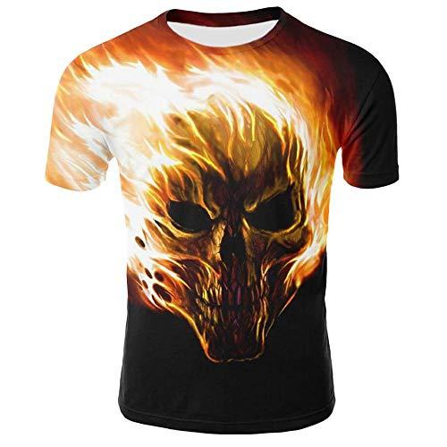 Herren T-Shirt Slim Fit/KaroT-Shirt KurzarmT-Shirt/Baumwolle/Denim-für Anzug, Business, Freizeit, Hochzeit (Schwarz,XL)
