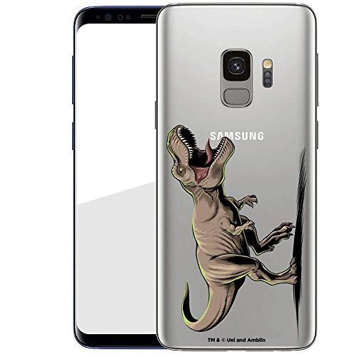 Finoo Hülle für Samsung Galaxy S9 - Handyhülle mit Motiv und Optimalen Schutz Tasche Case Hardcase Cover Schutzhülle - T-Rex auf der Jagd