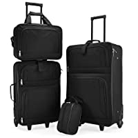 Exclusive 4pce Trolley Set Travel Suitcase Baggage Luggage