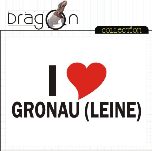 T-Shirt mit Städtenamen - i Love Gronau (Leine) - Herren - unisex Weiß