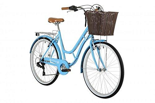 "41eorrphcaL - Classic Heritage Ladies 26"" Wheel 7 Speed 16"" Traditional Bike Bicycle Blue"