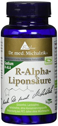 R-Alpha-Liponsäure nach Dr. med. Michalzik, wichtige körpereigene Substanz, 200 mg reine R-Alpha-Liponsäure je Kapsel - ohne Zusatzstoffe, 120 vegane Kapseln -