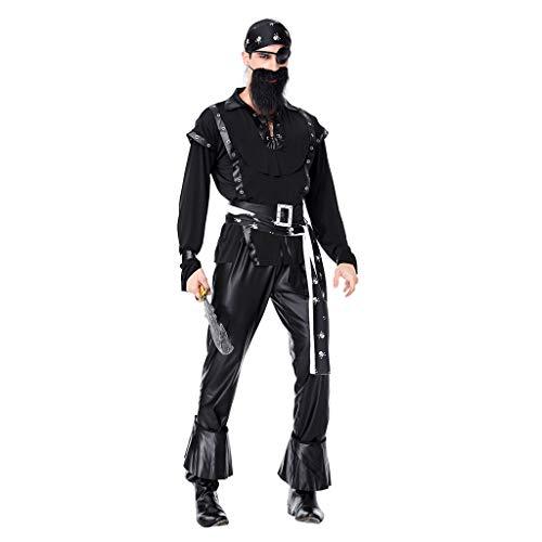 Piraten Für Cutthroat Erwachsenen Kostüm - F Fityle 7 in 1 Erwachsene Piratenkostüm Kapitän Seeräuber Kostüm Verkleidung Piratin Piraten Accessoires - XXL