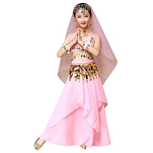 YEARNLY Mädchen Tanzkostüme Kinder Bauchtanz indianisch Halloween Karneval Kostüme