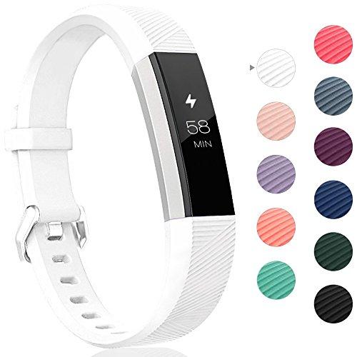 Onedream Armband Kompatibel für Fitbit Alta HR Ace Band Silikon Ersatzarmband Weiß