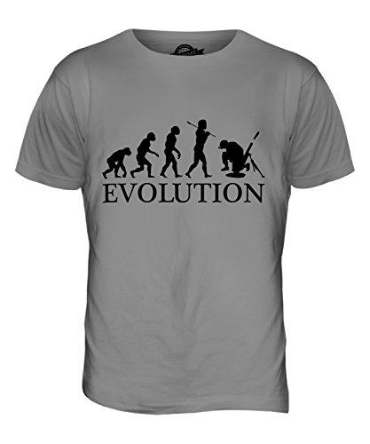 CandyMix Mörser Geschütz Soldat Mörtel Evolution Des Menschen Herren T Shirt Hellgrau