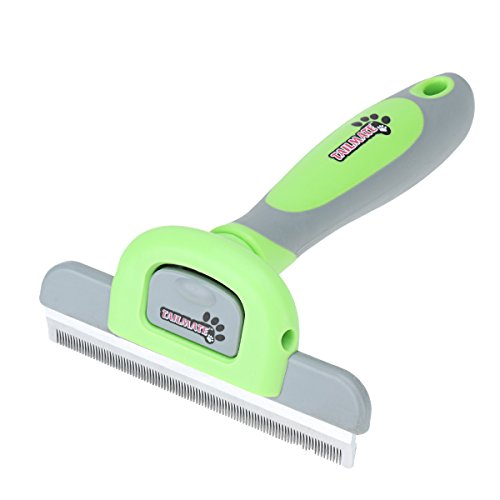 Katzenbürste Hundebürste Fellpflege Unterfellbürste Unterwollbürste Massage DeShedding-Pflegewerkzeug (DeShedding Bürste, Grün)