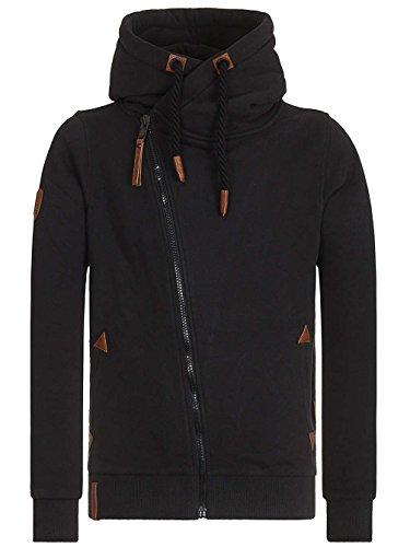 Naketano Male Zipped Jacket Hüter der Pflaumen Schwarz