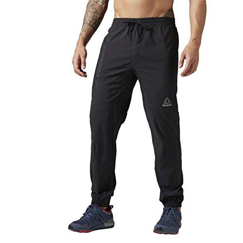 Reebok Elite Woven Jogger Pantalón Largo, Hombre, Negro (Negro), 2XL