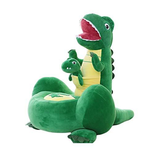 YONGJUN Kinder Sofa, Cartoon Dinosaurier Plüsch Puppe Baby Kissen Junge Mädchen Bodenkissen Sofa Kinder Geschenk 3 Farbe Optional (Farbe : Grün)