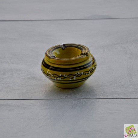 Yodeco - Cendrier anti fumée Tatoué vert anis - Mini modèle