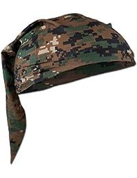 Army Patrol Versatile Scarf Headwrap Balaclava Headband Digital Woodland Camo
