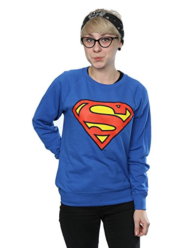 DC Comics Donna Superman Logo Felpa Small Blu reale
