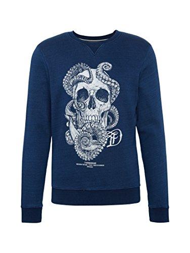 TOM TAILOR DENIM Sweat Sweatshirt mit Artwork shibori blue