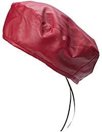 87039ac658d Lawliet Womens Faux Leather Beret Beanie Hat Army Military Adjustable  Fashion T294 (Wine)