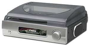 Steepletone Retro Stereo Turntable Record Player - Silver