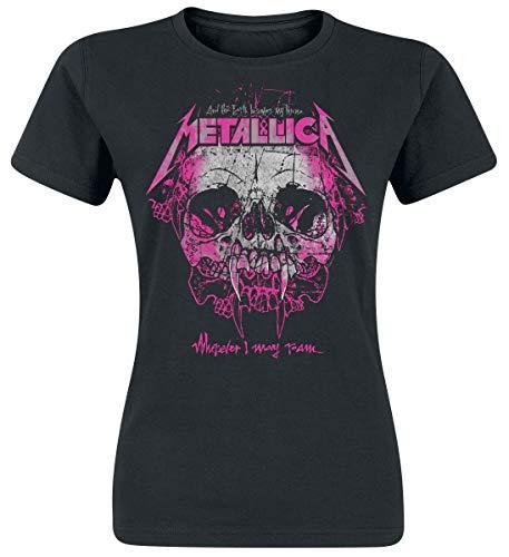 Metallica Wherever I May Roam Camiseta Mujer Negro M