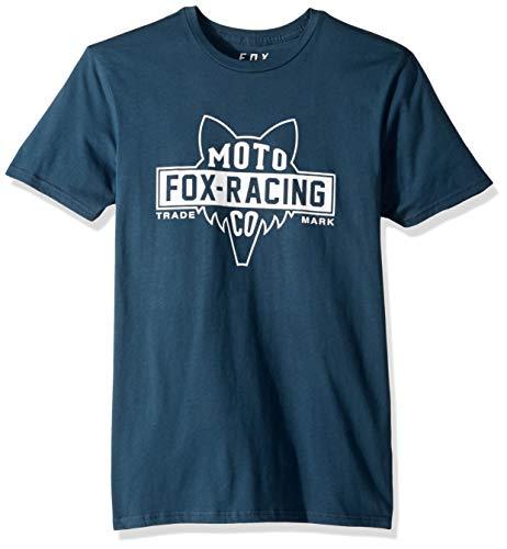 Fox Herren Flat Head Short Sleeve Premium T-Shirt, Navy, Groß - Fox Navy T-shirt