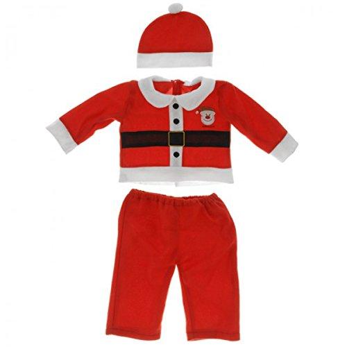 Weihnachtsanzug Kinder Junge Mädchen Weihnachtskostüm rot weiß Kleidung -