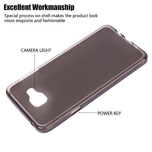 tinxi® Silikon Schutzhülle für Apple iPhone 6/6s 4,7 Zoll Hülle TPU Silikon Rückschale Schutz Hülle Silicon Case sehr dünn und leicht nur 0,7mm Dicke weiße Löwenzahn mattiert Schwarz