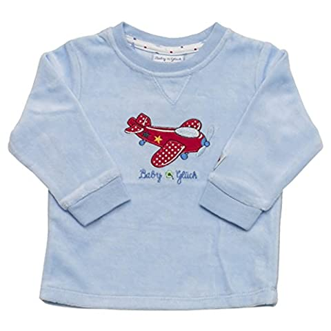 SALT AND PEPPER Baby - Jungen Sweatshirt BG Sweat Nicki Flieger, All over print, Gr. 68, Blau (light blue 413)