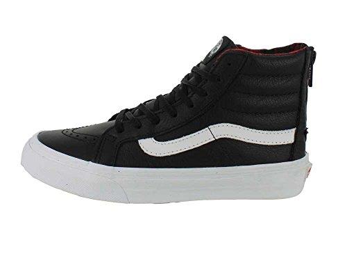 Vans U SK8-HI SLIM ZIP PERF LEATHER, Sneakers Basses mixte adulte Noir/True Blanc
