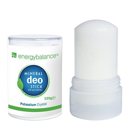 EnergyBalance Deo-Stick Kristall 120g ohne Aluminium (Aluminiumchloride) | Für Herren und Damen | Geruchsneutral | Deodorant | Markenqualität aus der Schweiz