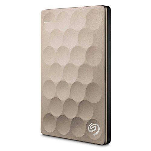 Seagate Backup Plus Ultra Slim 1TB External Hard Disk Gold Price in India