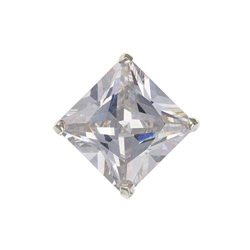 Herren 8mm quadratisch weiß/klar Zirkonia (CZ) Set Single Ohrstecker Ohrring/Ohrstecker 925Sterling Silber-Lieferung erfolgt in Geschenkbox oder Geschenkbeutel