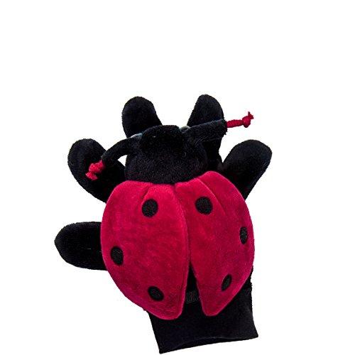Preisvergleich Produktbild Handpuppe Marienkfer - rot-schwarz - Polyester, Baumwolle, ABS, EVA - 14 x 9 x 9 cm - Wild Guys - BUTLERS