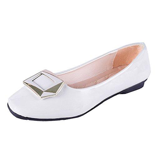 JUSTSELL_Schuhe für Damen,Frauen Quadratische Schnalle Rutschfest Heel Schuhe Runde Zehe Einzelne Schuhe -