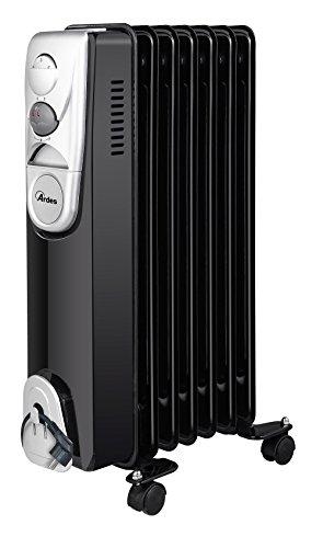 Ardes-ar4r07b-Radiador-de-aceite-elctrico-con-7-Elementos-3-Potenze-con-compartimiento-enrollacables-1500-W-NegroSilver