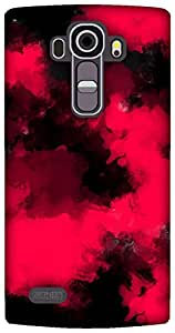The Racoon Lean printed designer hard back mobile phone case cover for LG G4. (pink and b)