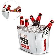 Enfriador de metal para cerveza por Balvi para fiestas